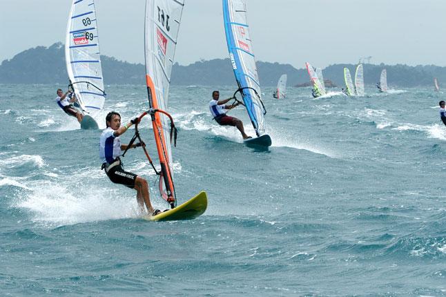 Wind surfing activities in Bintan Resort beach